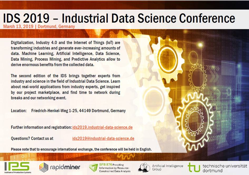 Industrial Data Science (IDS) Conference 2019